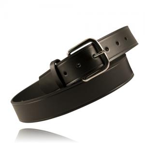 Boston Leather Off Duty Ranger Belt in Black Plain - 42