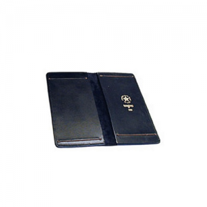 Boston Leather Double Citation Holder Slide Style in Plain Leather - 5880-1