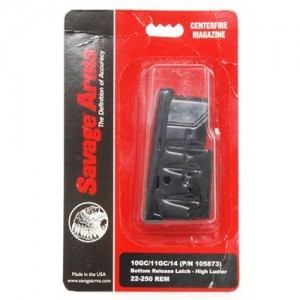 Savage Arms 4 Round Matte Blue Mag w/Bottom Release Latch For 243 Win/308 Win 55105