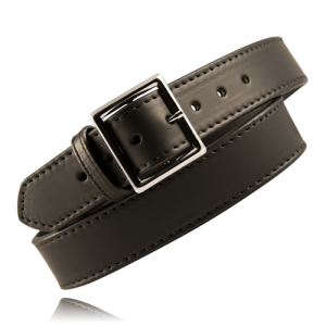 Boston Leather Fully Lined Garrison Belt in Black Basket Weave - 42