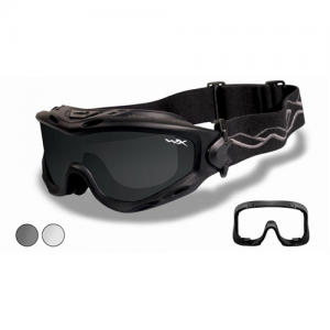 Wiley X - Spear Goggle  Matte Black Smoke Grey / Clear