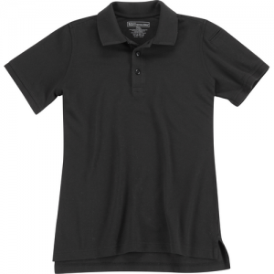 5.11 Tactical Utility Women's Short Sleeve Polo in Black - Small