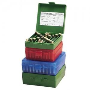 MTM 100 Round 38-357 Blue Pistol Ammo Box P100324