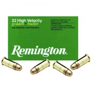 Remington Golden Bullet .22 Long Rifle Plated Lead Round Nose, 40 Grain (100 Rounds) - 1500