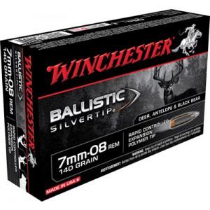 Winchester Supreme 7mm-08 Remington Ballistic Silvertip, 140 Grain (20 Rounds) - SBST708