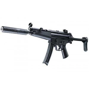 """Walther USA MP5 A5 .22 Long Rifle 25-Round 16.1"""" Semi-Automatic Rifle in Black - 5780310"""