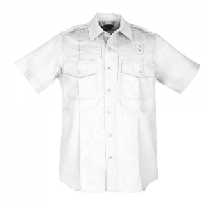 5.11 Tactical PDU Class B Men's Uniform Shirt in White - 2X-Large
