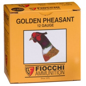 "Fiocchi Ammunition Golden Pheasant .12 Gauge (2.75"") 4 Shot Nickel-Plated Lead (250-Rounds) - 12GP4"