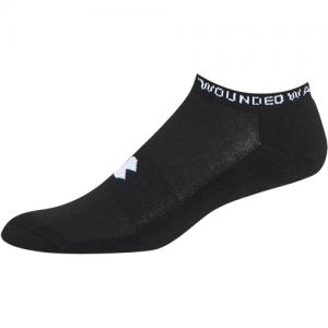 UA Freedom II No Show Socks 3 Pack Color: Black Size: Medium