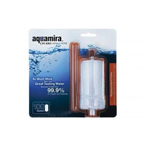 Miraguard Compact CR-100 Filter Capsule Aquamira Water Treatment White Filters 100 Gallons 67011