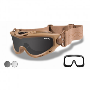 Wiley X - Spear Goggle Frame Color: Tan Lens Color: Smoke Grey / Clear Option: None