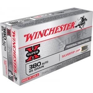 Winchester Super-X .380 ACP Silvertip HP, 85 Grain (50 Rounds) - X380ASHP