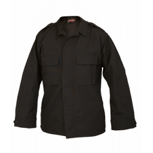 TruSpec - Long Sleeve Tactical Shirt Color: Black Length: Regular Size: Medium Fabric: Polyester/Cotton Rip Stop