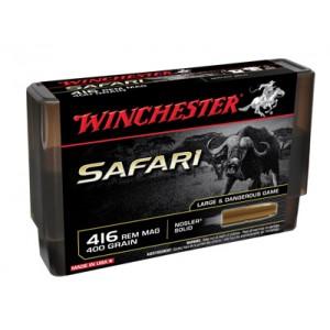 Winchester Supreme Safari .416 Remington Magnum Nosler Solid, 400 Grain (20 Rounds) - S416SLS