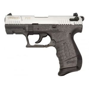 """Walther P22.22 Long Rifle 10+1 3.4"""" Pistol in Brushed Chrome - WAN22012"""