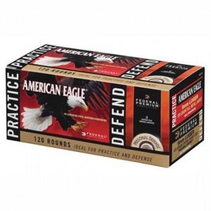 Federal Cartridge American Eagle .40 S&W Full Metal Jacket/Hydro-Shok JHP, 180 Grain (120 Rounds) - PAE40180