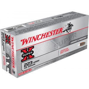 Winchester Super-X .223 Winchester Super Short Magnum Pointed Soft Point, 55 Grain (20 Rounds) - X223WSS