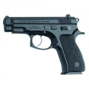"CZ 75 Compact 9mm 15+1 3.9"" Pistol in Black - 91190"