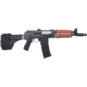 "Century Arms AK Style .223 Remington/5.56 NATO 30-Round 10.25"" Semi-Automatic Rifle in Black - PAPM85NP-SB47"