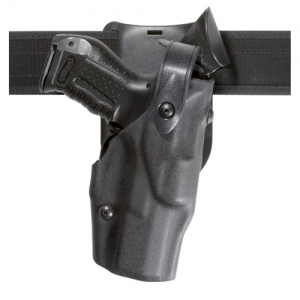 Model 6365 Low Ride ALS Duty Holster w/ SLS Finish: STX Tactical Black Gun Fit: Sig Sauer P229R DAK (Bobbed) with Light Rails (3.9  bbl) Hand: Right - 6365-477-131