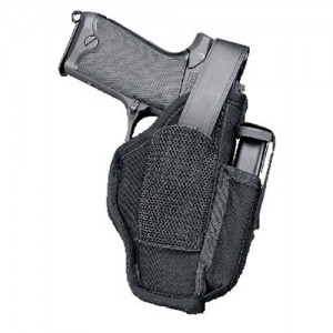 Uncle Mike's HipHolster w/Magazine Pouch Hip Holster w/Mag Pouch in Black Textured Nylon - 70050