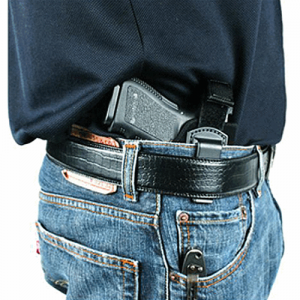 Blackhawk Inside The Pants Right-Hand IWB Holster for Small/Medium Double Action Revolvers in Black (W/ Strap) - 73IR00BK-R