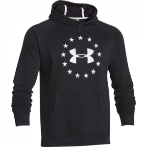 Under Armour Freedom Men's Pullover Hoodie in Black/Graphite - 2X-Large