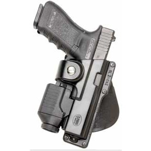 Fobus USA Paddle Left-Hand Paddle Holster for Glock 19, 23, 32, 36, 19, 23, 32 in Black (W/ Light or Laser) - GLT19LH