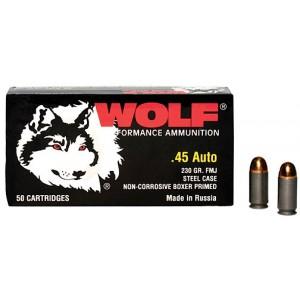 Wolf Performance Ammo Military Classic .45 ACP Full Metal Jacket, 230 Grain (500 Rounds) - MC45FMJ