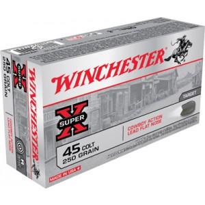 Winchester Super-X .45 Colt Lead, 250 Grain (50 Rounds) - USA45CB