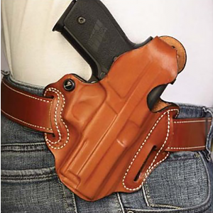 Desantis Gunhide Thumb Break Scabbard Right-Hand Belt Holster for Glock 26, 27, 33 in Black - 001BAE1Z0