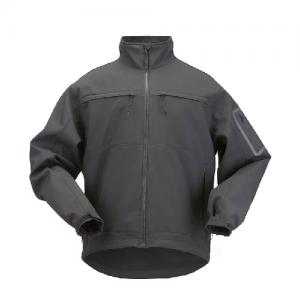 5.11 Tactical Chameleon Softshell Men's Full Zip Jacket in Black - Large