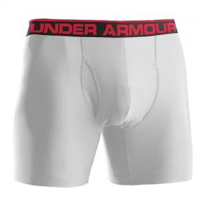 "Under Armour O-Series 6"" Men's Underwear in White - 2X-Large"