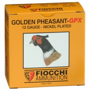 "Fiocchi Ammunition Golden Pheasant .12 Gauge (2.75"") 4 Shot Nickel-Plated Lead (250-Rounds) - 12GPX4"