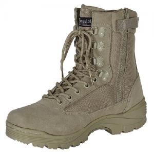 9  Tactical Boots Color: Khaki Tan Size: 8 Wide
