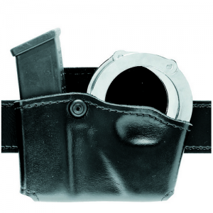Open Top Magazine and Handcuff Pouch Finish: STX Tactical Black Gun Fit: Glock 20 Hand: Left