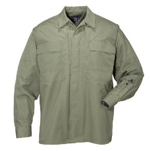 5.11 Tactical Ripstop TDU Men's Long Sleeve Shirt in TDU Green - X-Small