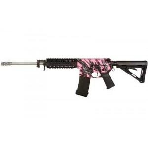 "Black Rain Ordinance Pink Splash .223 Remington/5.56 NATO 30-Round 16"" Semi-Automatic Rifle in Pink Splash Print/Ceramic Clear Coat - BRO-PG1"