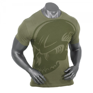 Voodoo Subdued Skull Men's T-Shirt in O.D. Green - 2X-Large