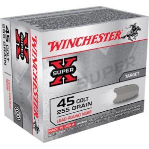 Winchester Super-X .45 Colt Lead Round Nose, 255 Grain (20 Rounds) - X45CP2