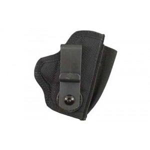 Desantis Gunhide M42 Tuck This II Right-Hand Belt Holster for Glock 26, 27 in Black Leather (W/ Crimson Trace) -