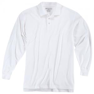 5.11 Tactical Utility Men's Long Sleeve Polo in White - Medium