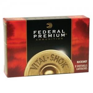 "Federal Cartridge Vital-Shok Medium Game .12 Gauge (3"") 000 Buck Shot Lead (5-Rounds) - P158000"