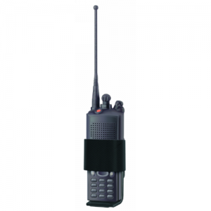 Radio Case  Radio Case Hi-Gloss Finish Case is 1-1/2 in. D x 2-1/4 in. W x 5 in. H. Velcro closure adjusts to hold radios of various widths. Holds most popular radios.