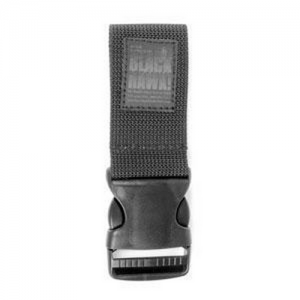 Drop Leg Extender w/ 2  Quick  Drop Leg Extender w/ 2  Quick Release Black Extends gear below the belt by five inches Attaches to drop leg holsters, pouches, and rigs Wt: 3.04 oz.