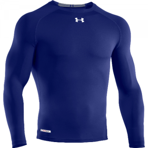 Under Armour HeatGear Sonic Men's Long Sleeve Compression Tee in Royal - Large