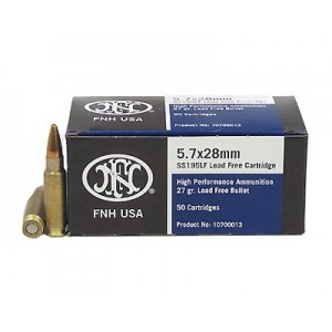 FN Herstal SS195LF 5.7X28 Lead Free Hollow Point, 27 Grain (50 Rounds) - 10700013
