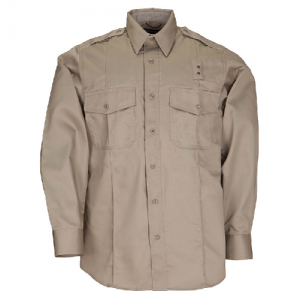 5.11 Tactical PDU Class A Men's Long Sleeve Uniform Shirt in Silver Tan - Large