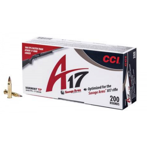 CCI 17HMR A17 Rimfire Ammo for Savage A17 (200 Rounds) - 949CC