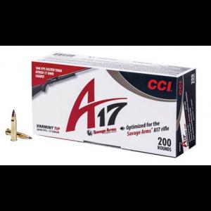 CCI 17HMR A17 Rimfire Ammo for Savage A17 (200 Rounds) - 949CC